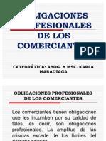 Obligaciones Profesionales de Los Comerciantes