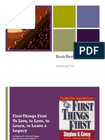 First Things First Book Review