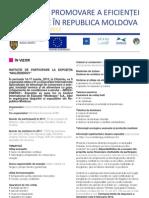 Buletin de promovare a eficienței energetice în Republica Moldova