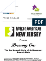 The African American Chamber of Commerce of New Jersey Presents... The 2nd Annual Circle of Achievement Awards Gala