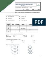 Ficha de trabalho - potências - multiplicação - divisão