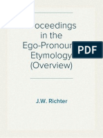 Proceedings in the Ego-Pronouns' Etymology (Overview)