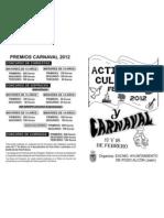 CARNAVAL Y PROG.CULTURAL FEBRERO