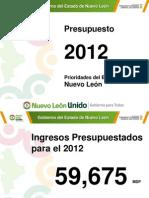 Presupuesto del Poder Ejecutivo del Estado de Nuevo León para 2012