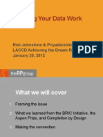 Making Your Data Work - LACCD AtD Retreat