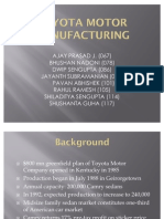 Toyota Motor Manufacturing SectionB GroupX