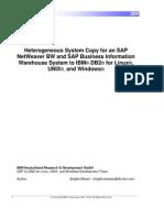 Heterogeneous System Copy for SAP