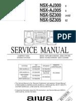 Equipo Aiwa Nsx Aj300+Nsx Aj305+Nsx Sz300+Nsx Sz305
