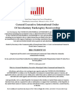 """Sovereigns"" - General Executive International Order Blank"