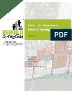 Executive Summary Rebuild Springfield Plan