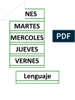 SUBSECTORES HORARIO