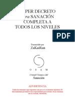 SUPER DECRETO para SANACIÓN COMPLETA A TODOS LOS NIVELES por ZaKaiRan