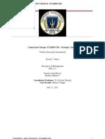 Principles of Managment Star Bucks- Strategic Controls