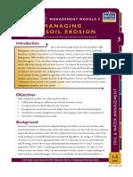 Managing for Soil Erosion, Module 3