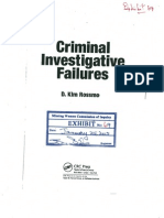 "Excerpts from the book ""Criminal Investigative Failures"" by D. Kim ROSSMO"