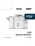 Service Manual Ricoh Aficio 550-650 A229