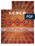 DSG Lunch Menu