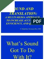Sound and Translation