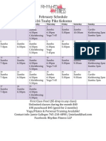 February Schedule