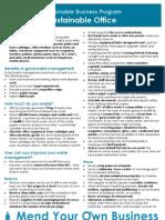 Info sheet- Sustainable Office