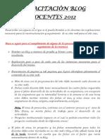 CAPACITACIÓN BLOG DOCENTES 2012