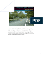 Traffic Calming - State of the Practice SLIDESHOW