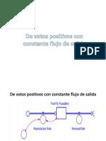 De Votos Positivos Con Constante Flujo de Salida