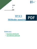 Tp3 Methode Num Haoudi Soufiane Ait Moussa Khalid