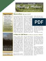Planting Malawi - November newsletter