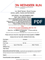 Reindeer Run Entry Form