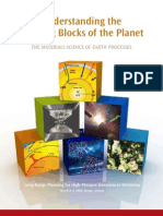 Understanding the Building Blocks of the Planet