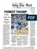 The Daily Tar Heel for February 1, 2012