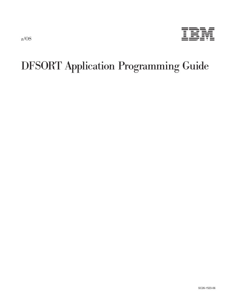 dfsort application programming guide operating system command rh scribd com jcl reference manual ibm pdf jcl reference manual ibm pdf