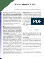 Koichiro Umemoto and Renata M. Wentzcovitch- Prediction of an U2S3-type polymorph of Al2O3 at 3.7 Mbar
