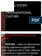 Social System and Organizational Culture Ppp