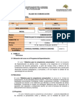 SILABO COMUNICACIÒN III