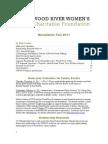 WRWCF Newsletter Fall 2011