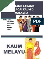 Pantang Larang Di Malaysia