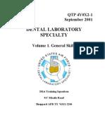 US Air Force Course AFQTP 4Y0X2-1 - Dental Laboratory-General Skills