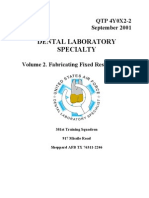 US Air Force Course AFQTP 4Y0X2-2 - Dental Laboratory-Fabricating Fixed Restorations