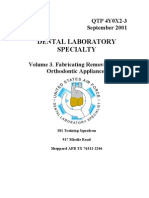 US Air Force Course AFQTP 4Y0X2-3 - Dental Laboratory-Fabricating Removable and Orthodontic Appliances
