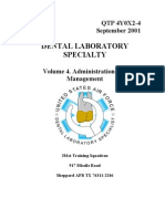US Air Force Course AFQTP 4Y0X2-4 - Dental Laboratory-Administration and Management
