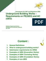 UBW Requirements