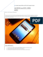 How to Install Android on Htc Hd2