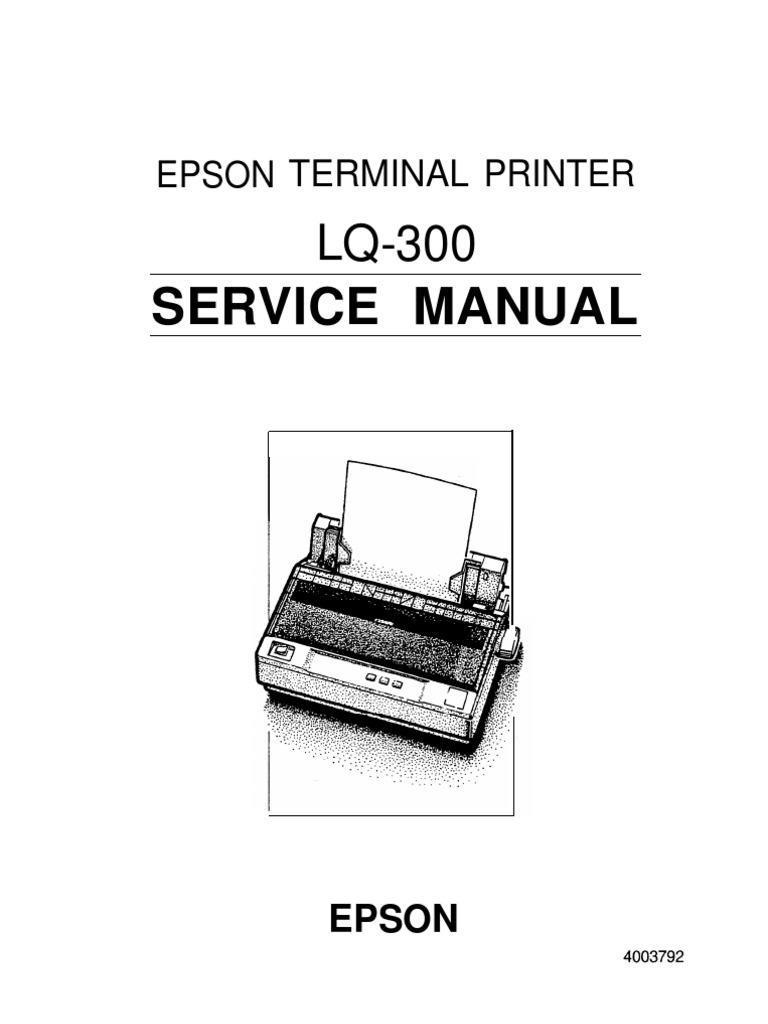 epson lq300 manual