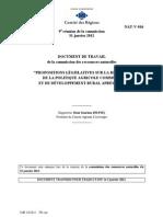 Rapport Souchon Comité des Régions