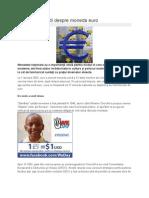 Ce trebuie să ştii despre moneda euro