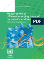 Measurement of emerging forms of families and households