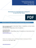 Estrategias de especialización inteligente; el caso del País Vasco.