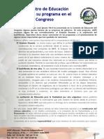 Wert presenta su programa en el Congreso